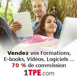 1TPE un site qui vous paye jusqu'à 70% pour vendre des produits numérique